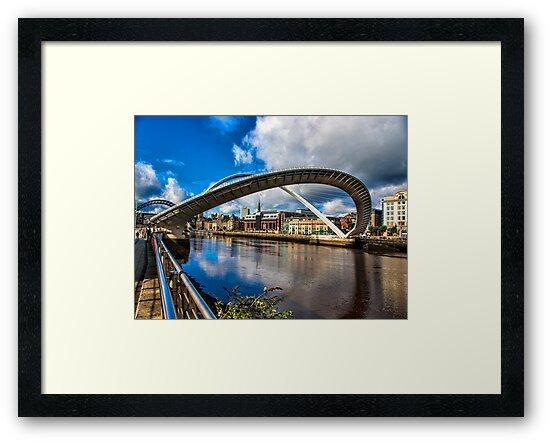 Millenium Bridge Opening by Trevor Kersley
