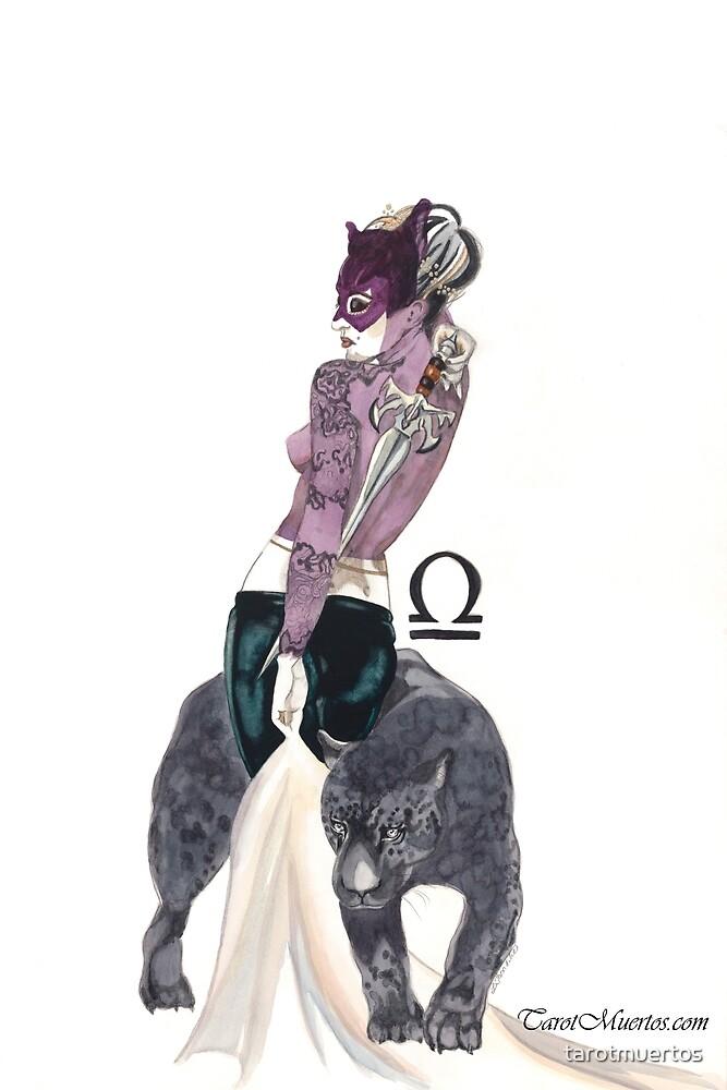 Queen of Swords - Reina de Espadas by tarotmuertos