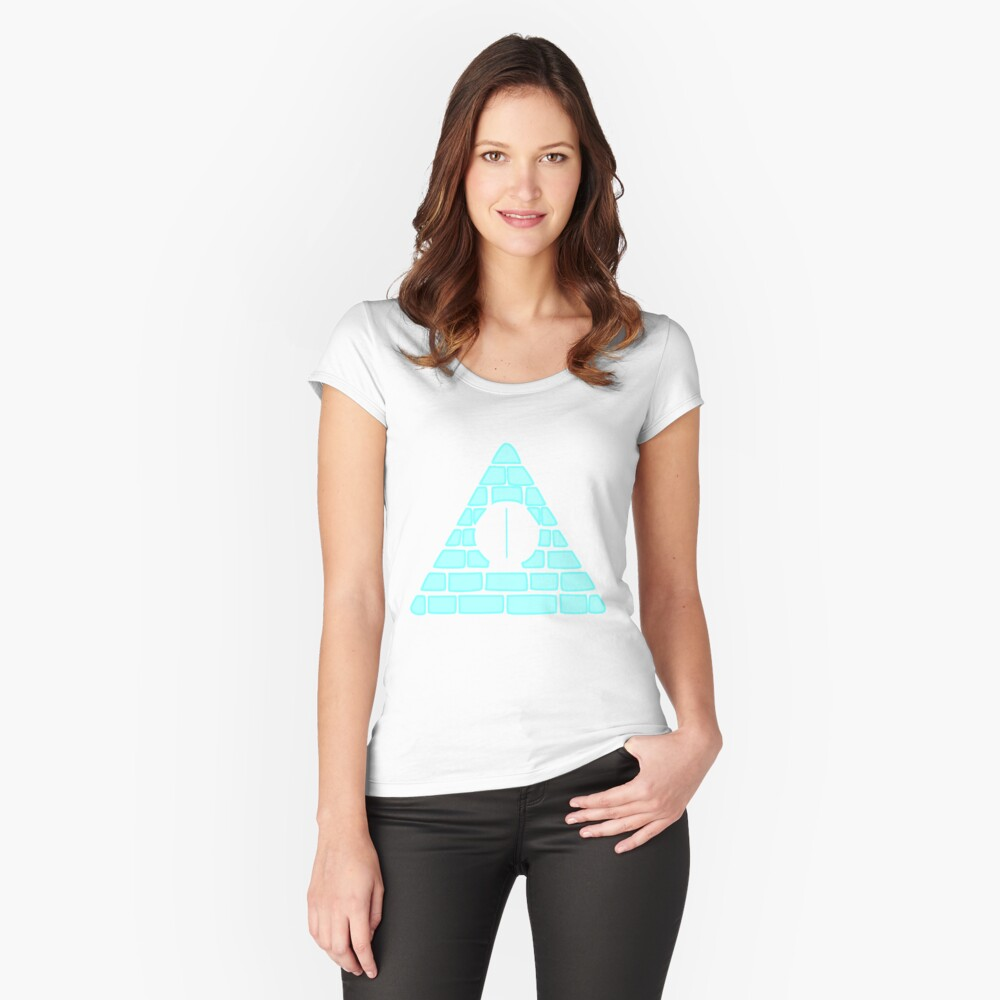 Pyramid Dorito Women's Fitted Scoop T-Shirt Front
