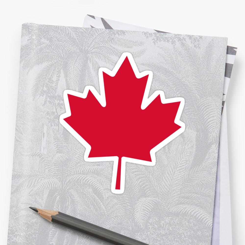 Canadá | Hoja de arce Pegatina