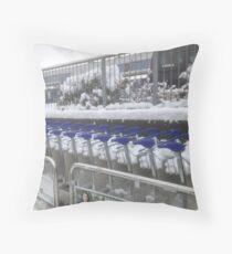 Airport trolleys Throw Pillow
