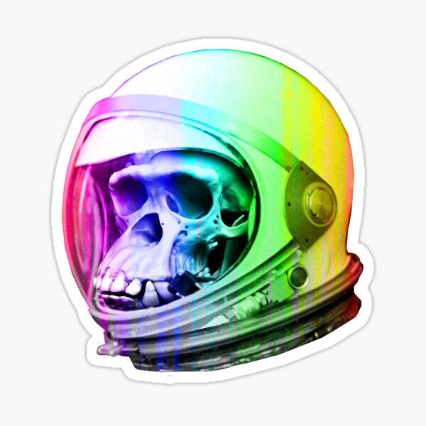 Space Primate Astro Skull Sticker