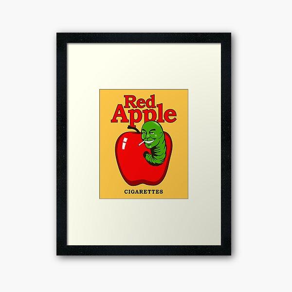 Red Apple Cigarettes Artwork for Wall Art, Prints, Posters, Tshirts, Men, Women, Kids Framed Art Print
