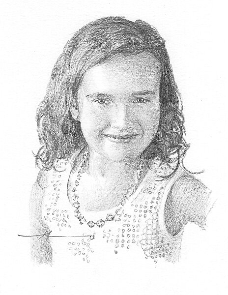 Dear girl drawing by Mike Theuer