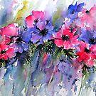 Splashy Anemones by artbyrachel