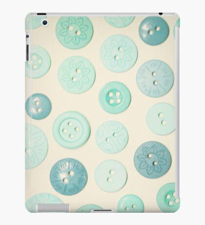 Vintage Blues Button Love iPad Case/Skin