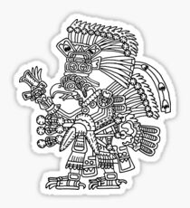 Tezcatlipoca as an eagle or royal vulture Sticker