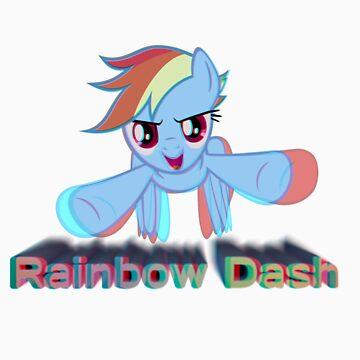 Rainbow Dash Flies Forth 3D by Ryolo