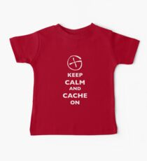 KEEP CALM and CACHE ON 1 Baby Tee