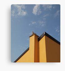 Yellow Building Against Blue Sky, Piran Canvas Print