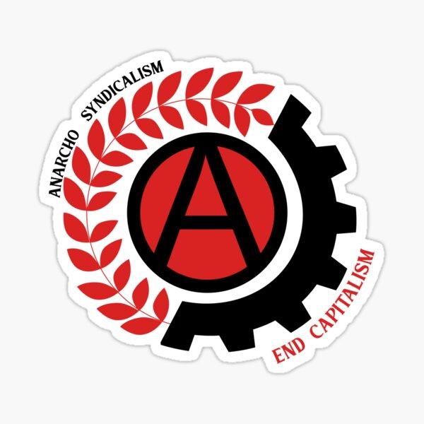 sindicalismo anarco Pegatina