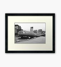 Webb bridge docklands Framed Print