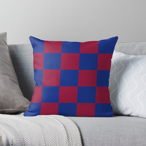 Barça Checkered Pattern  Throw Pillow