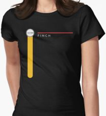 Finch station Womens Fitted T-Shirt