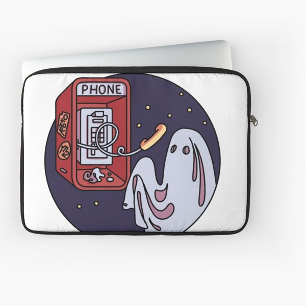Ghost and pay phone  Laptop Sleeve
