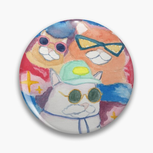 Snazzy Cats Pin