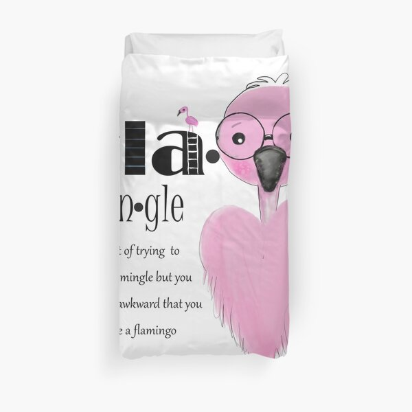 Flamingle  Duvet Cover