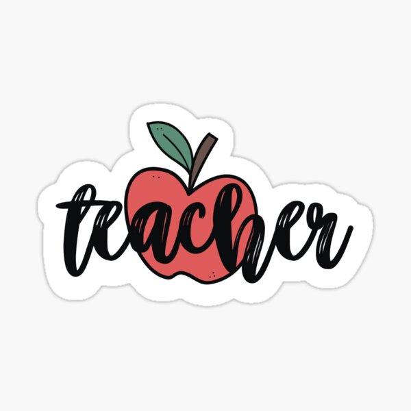 Teacher - Red Apple Sticker