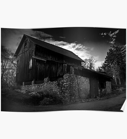 Old Abandoned Barn Poster