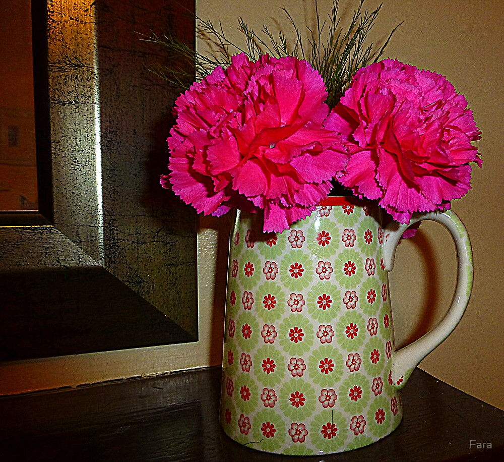Jug With Carnations by Fara