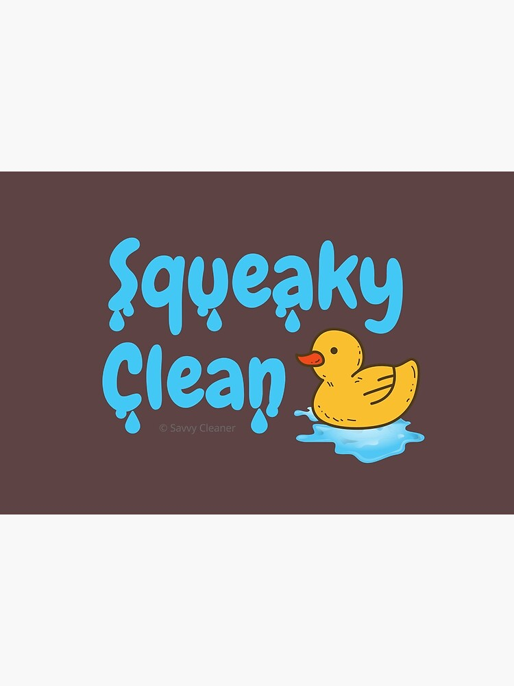 Squeaky Clean Rubber Duckie Cleaning Housekeeping Cleanup by SavvyCleaner