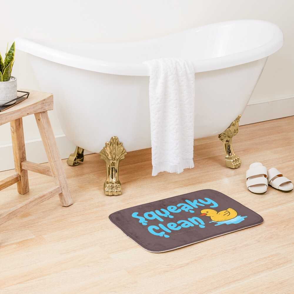 Squeaky Clean Rubber Duckie Cleaning Housekeeping Cleanup Bath Mat