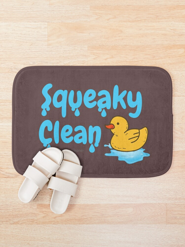 Alternate view of Squeaky Clean Rubber Duckie Cleaning Housekeeping Cleanup Bath Mat