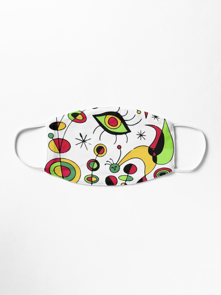 Alternate view of Joan Miro Peces De Colores (Colorful Fish ) Artwork for Posters Tshirts Prints Men Women Kids Mask