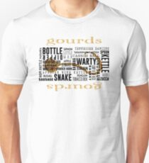 Gourd Typography 2 (Light Background) Unisex T-Shirt
