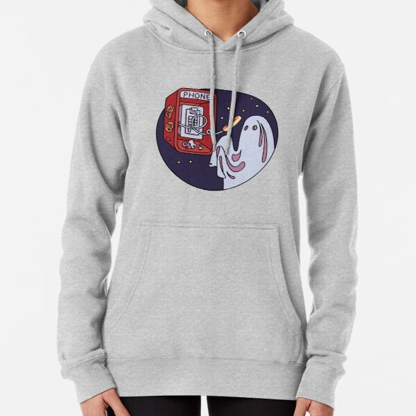 Ghost and pay phone  Pullover Hoodie