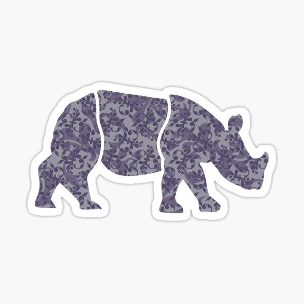 Floral Rhino  Sticker