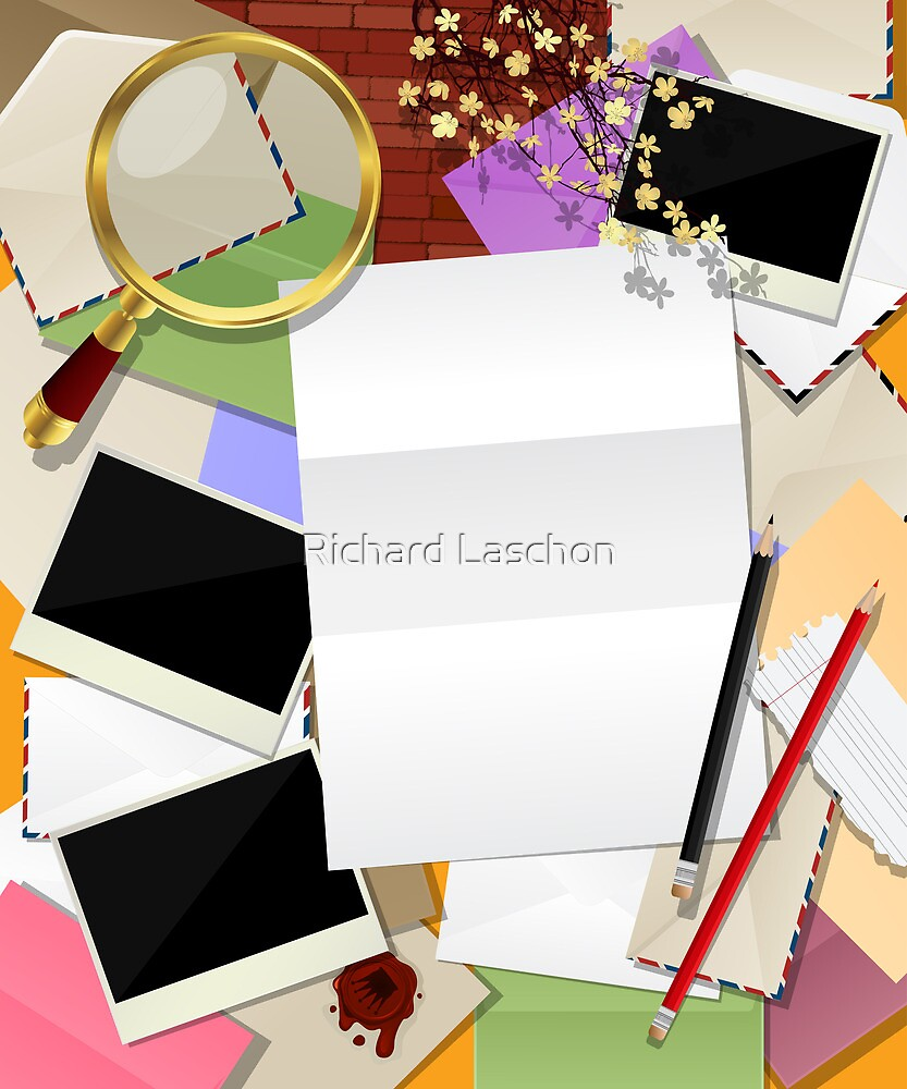 Letter collage by Richard Laschon