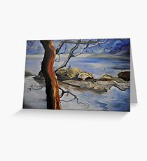 Where the Rocks meet the sea (Saanich) Greeting Card