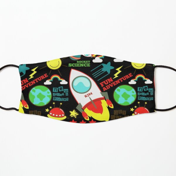 Space Science Astronomy Rocket Print Kids Mask