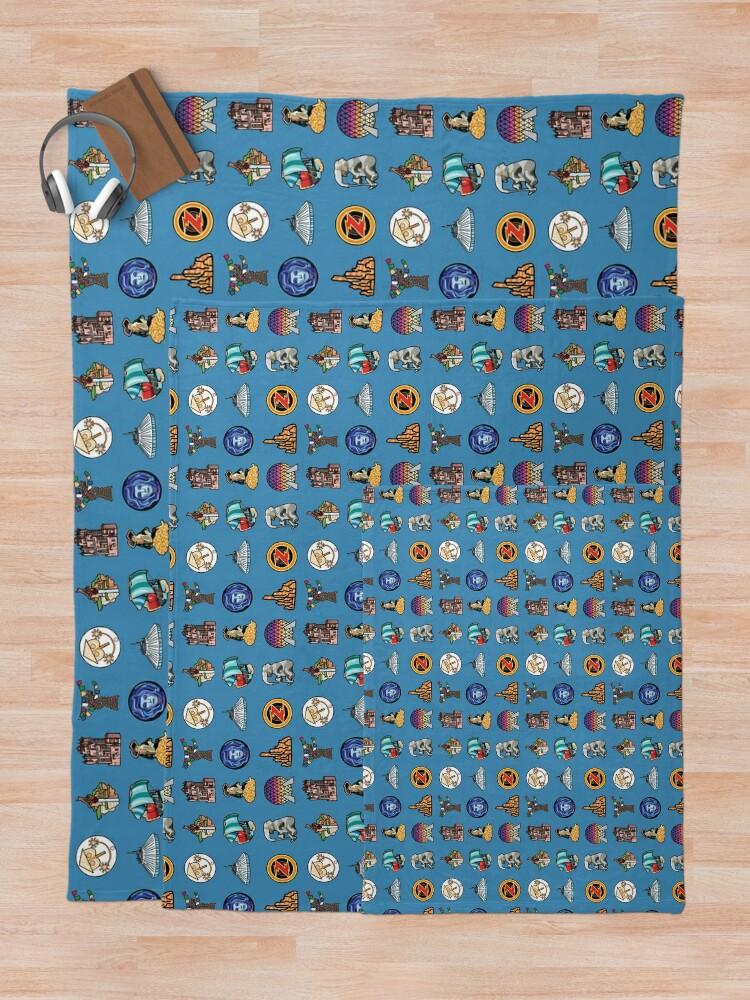 Alternate view of Ride Icon Pattern Throw Blanket