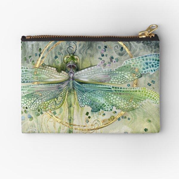 Green Dragonfly Zipper Pouch