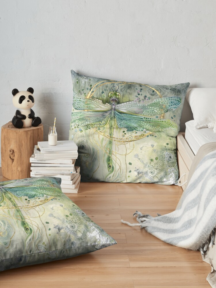 Alternate view of Green Dragonfly Floor Pillow