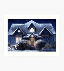 Quiet Winter Night Art Print