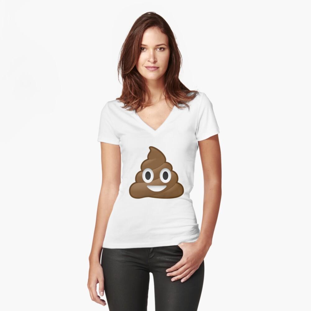 Pile of Poop Fitted V-Neck T-Shirt