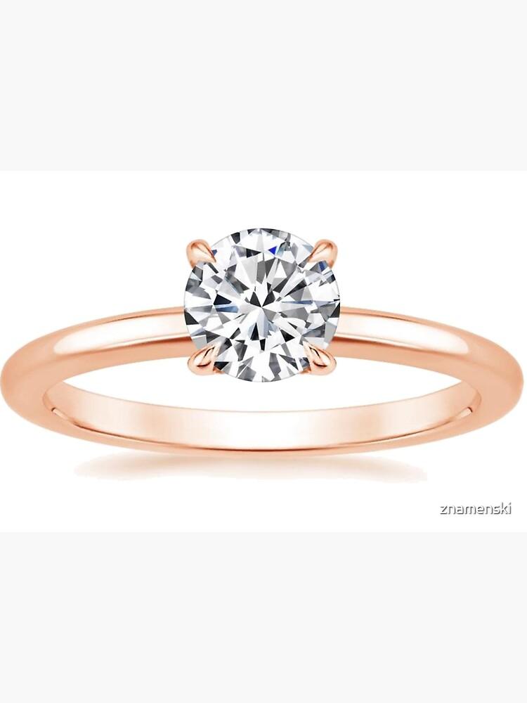#Engagement #ring #yellow #gold diamond by znamenski