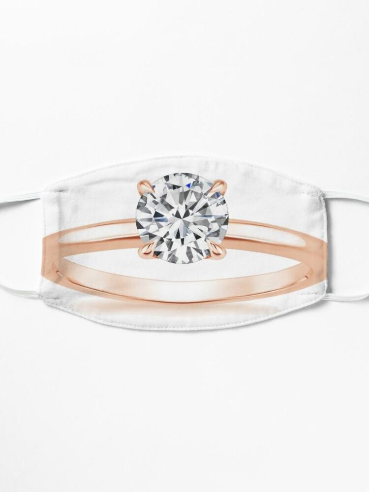 Alternate view of #Engagement #ring #yellow #gold diamond Mask