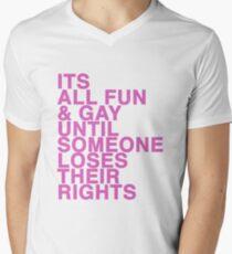 Gay rights Men's V-Neck T-Shirt