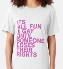 Gay rights Slim Fit T-Shirt