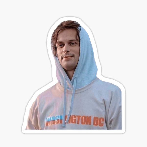 gray hoodie matty gray Sticker
