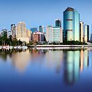 Brisbane city reflections by DarvidArt