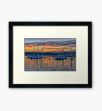 Safe Harbour - Newport , Sydney Australia - The HDR Experience Framed Print