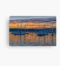 Safe Harbour - Newport , Sydney Australia - The HDR Experience Canvas Print
