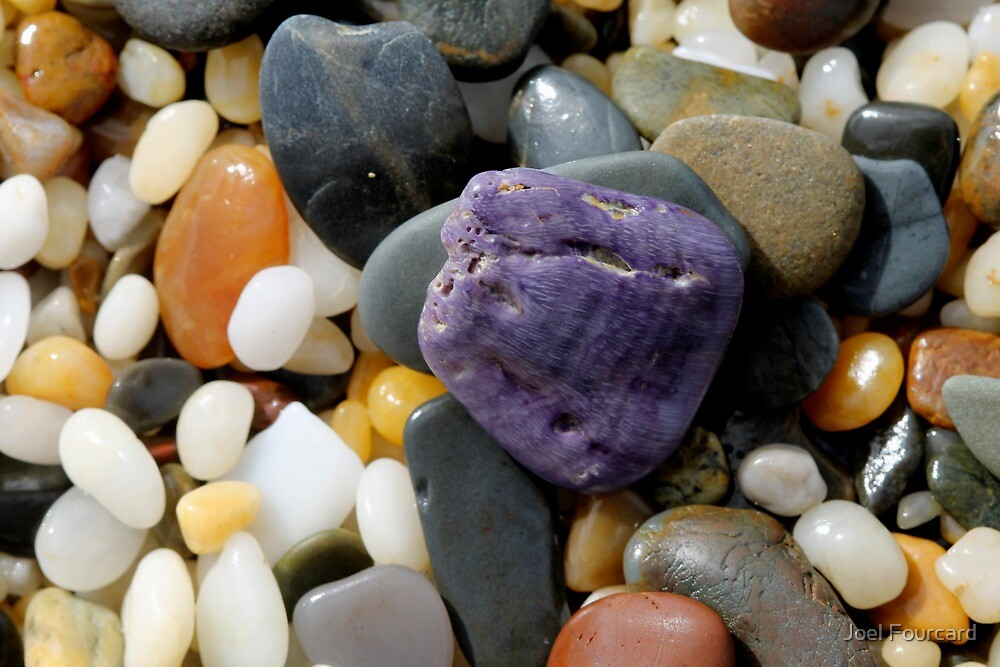 Purple and the Pebbles        by Joel Fourcard