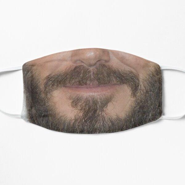 Beard Face Mask - David Beckham Funny Bearded Face Masks with Mustache & Beards Flat Mask