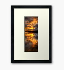 Brooding Morn - Narrabeen Lakes Sydney Australia (Vertical Crop) - The HDR Experience Framed Print